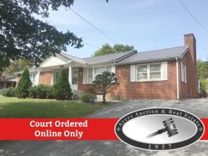 Court Ordered Online Only Auction, Full brick ranch home w/partial unfinished basement.