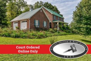 Court Ordered Online Only Auction, 4 bdrm, custom built, 2 story brick home