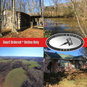 10 Acres, house, cabin, & personal property