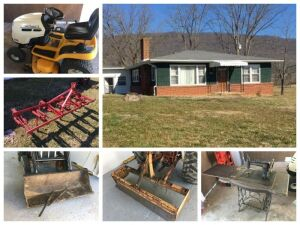 Online Only Auction, 13+/- Acre farm w/House & Equipment