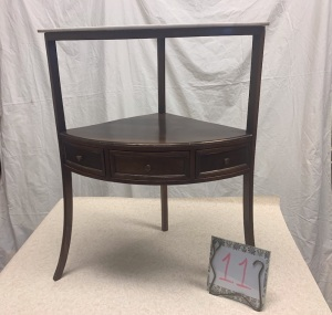 Furniture - corner table with marble top