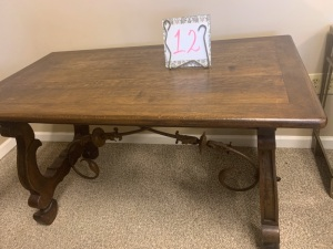 Furniture - French Wood & Iron Table