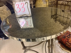 Furniture - round mirrored table