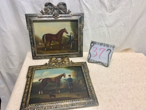 Art - Oil on wood, with ornate gold frames