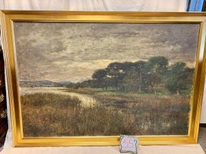 Art - Antique oil painting with gold frame