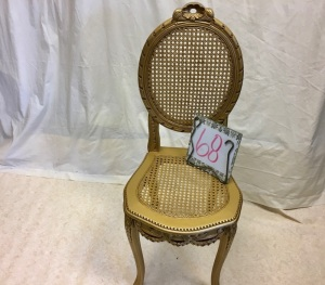Furniture - French gilded small vanity chair
