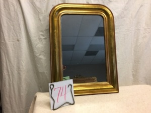 Home Furnishings - Antique Gold framed mirror