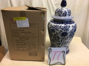 Home Furnishings - 2 ginger jars, Oriental style