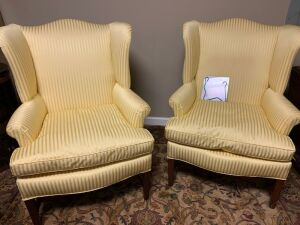 Furniture - 2 wingback chairs