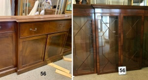 Furniture - Breakfront Secretary / China Hutch (base & top)