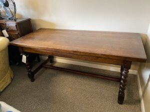 Furniture - Wood table with twisted legs