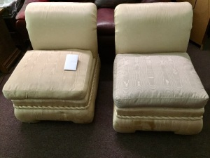 2 armless chairs