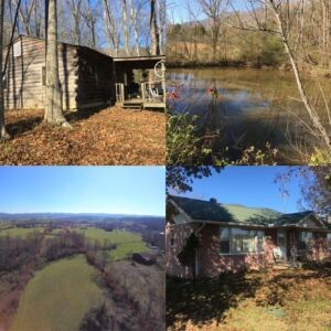 10.2 Ac, House, & Cabin 1013/1017 Cross Valley Rd.