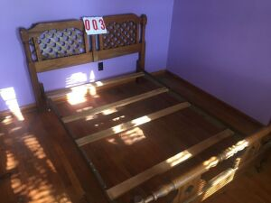 2 full size bed steads, head/footboards/rails