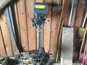 Craftsman drill press and vise (in garage)