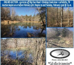 130.27 Acres off Big Four Rd., LaFollette, TN