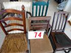 Adult size chairs- assorted 5 total