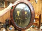 Antique photo with oval frame