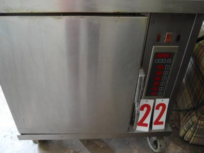 Oven on wheels, electric, 3 phase, stainless steel