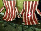 Folding camp chairs, 2