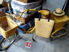 Adult bamboo tricycle, bamboo and rattan with hat and tote, 2 baskets included, in great shape