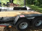 Dual axle trailer, like new, 12 foot with ramps