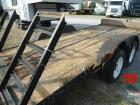 Dual axle trailer,  good tires (new condition) wood bed with ramps