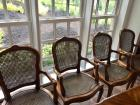 4 matching chairs, cane seat/back